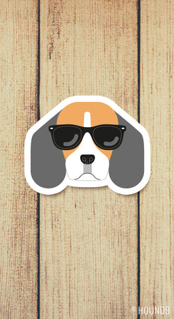 Beagle Dog in Sunglasses Vinyl Decal Pre-Order