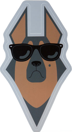 german shepherd dog wearing sunglasses vinyl decal sticker