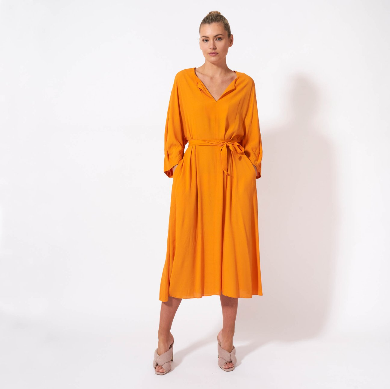 Fate & Becker Meet Me in St Louis Dress Tangerine