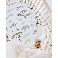 Snuggle Hunny Kids Fitted Cotton Bassinet Sheet - Safari