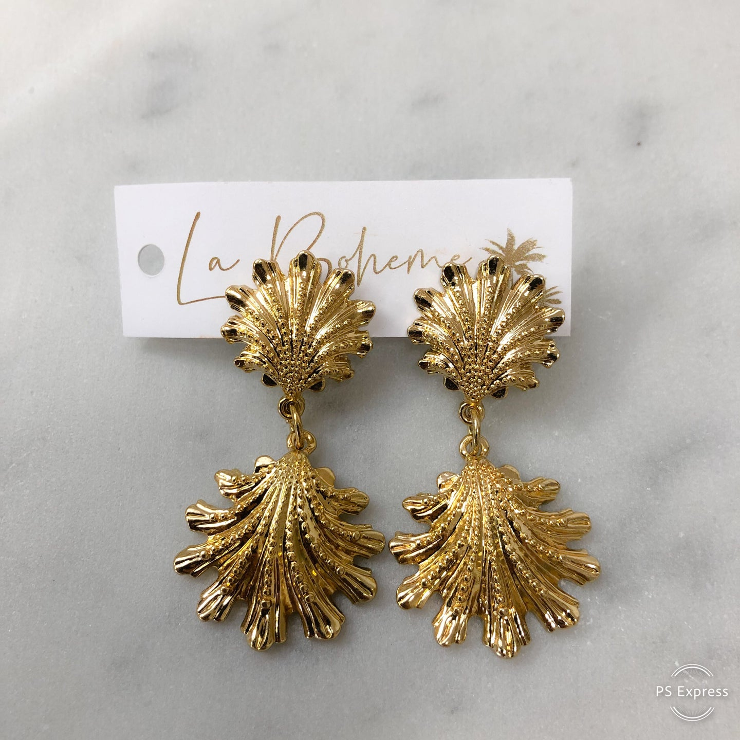 Adorne Shell Earrings GOLD