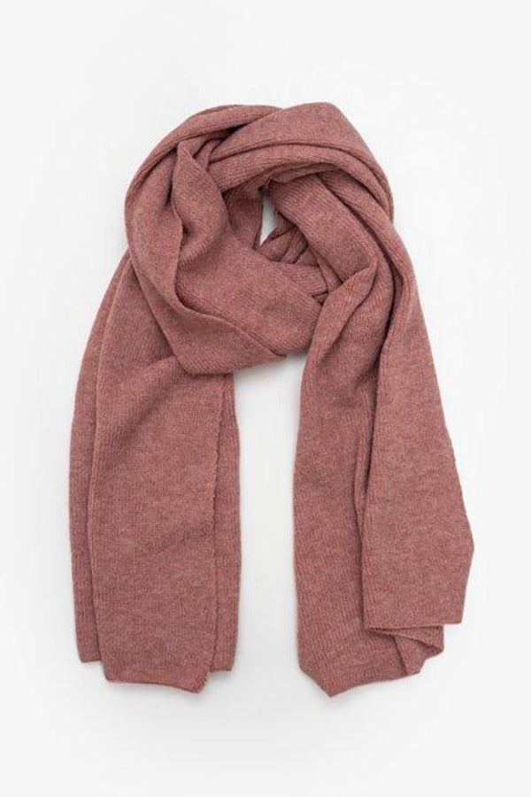 Antler Block Knit Scarf - Rose Pink