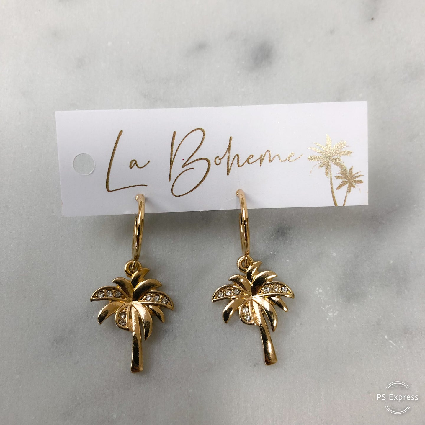 Gold Palm Tree Earring