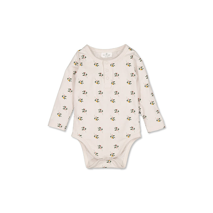 Burrow & Be Henley L/S Bodysuit - Earth Child