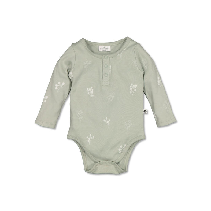 Burrow & Be Henley L/S Bodysuit - Sprig