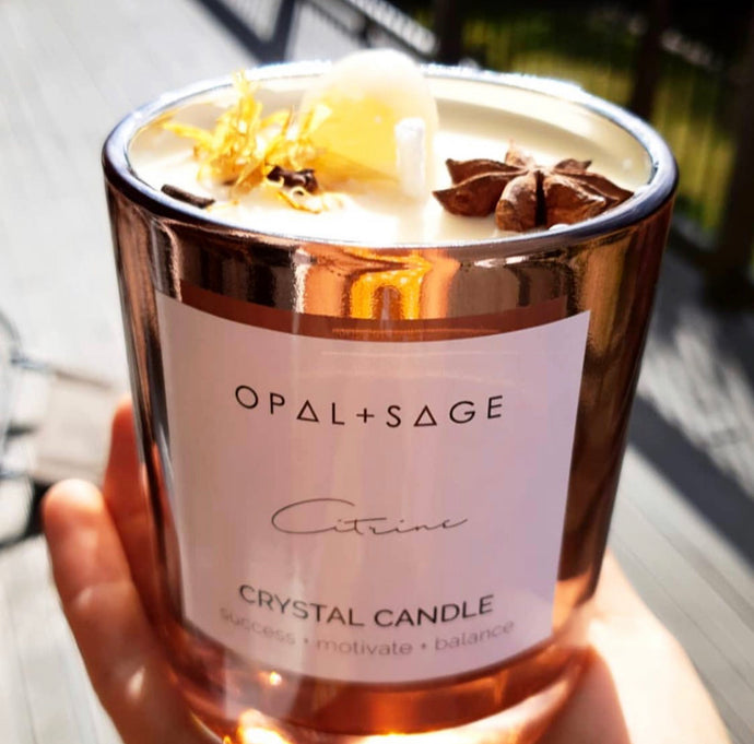 Opal & Sage Citrine Candle