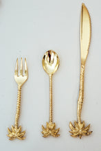 Brass Palm Tree Fork SMALL