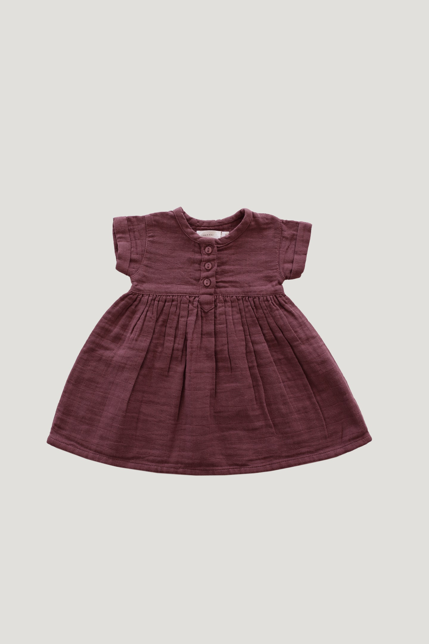 Jamie Kay Cotton Muslin Short Sleeve Dress - Berry Sorbet