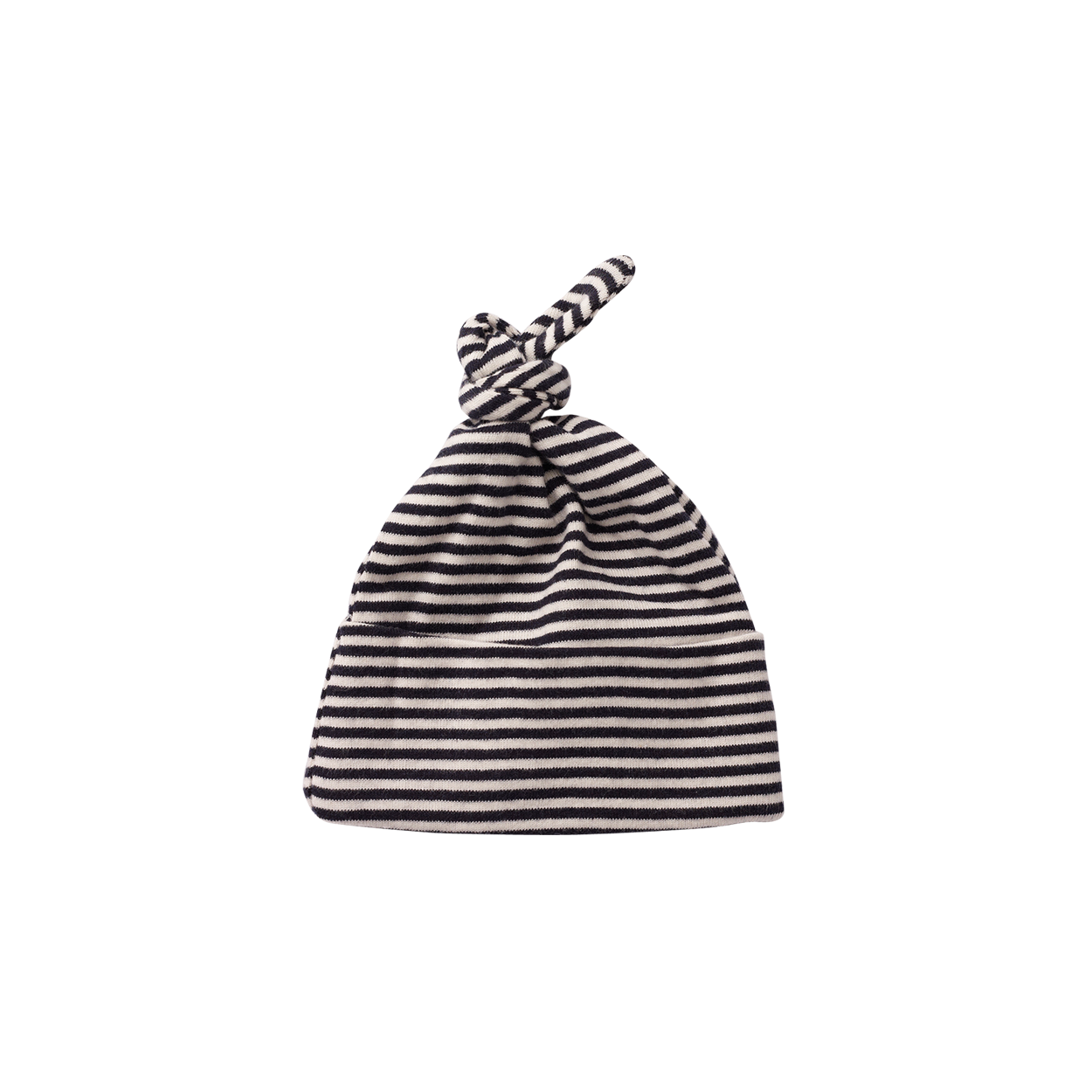 Nature Baby Cotton Knotted Beanie NAVY STRIPE