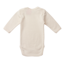 Nature Baby Cotton Long Sleeve Bodysuit NATURAL