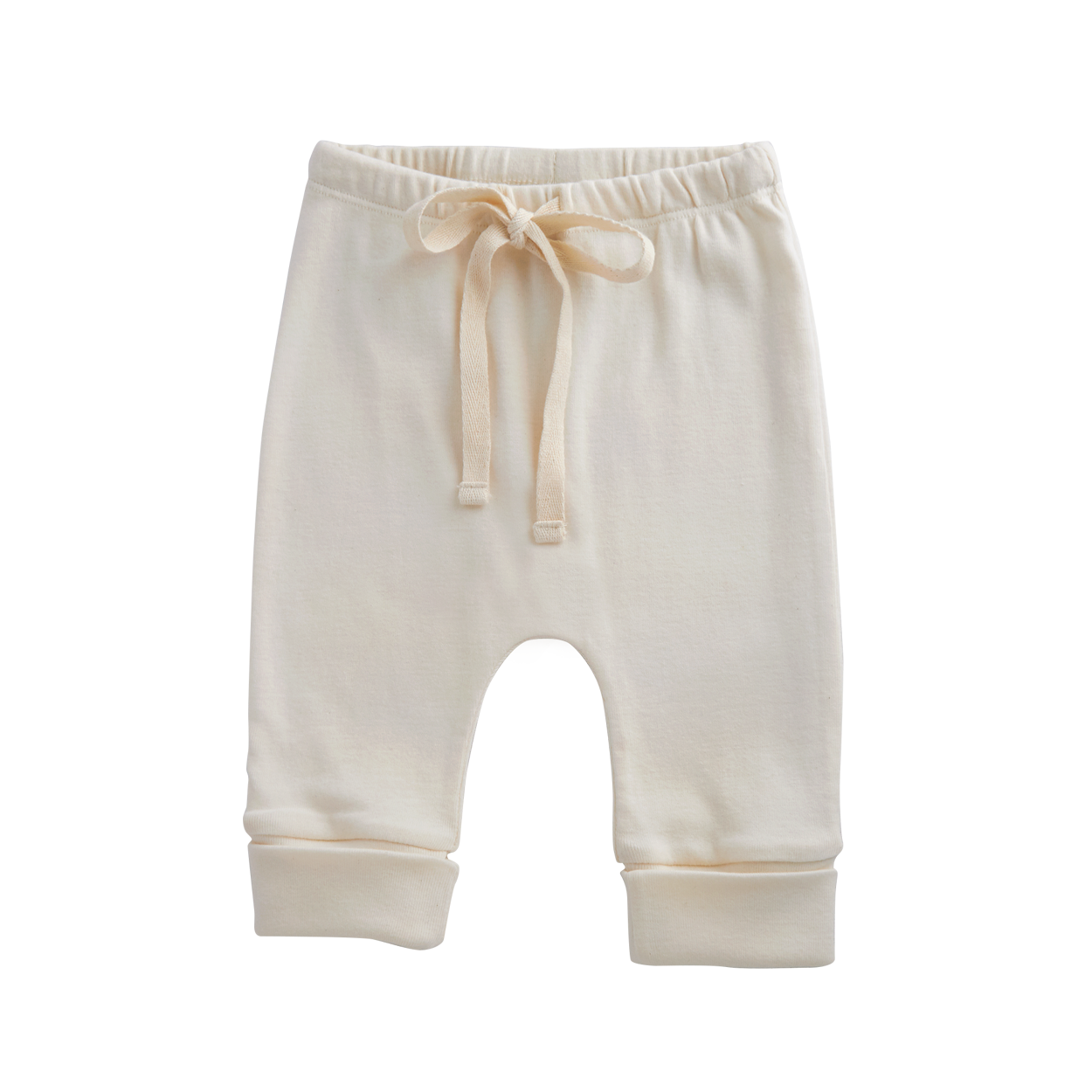 Nature Baby Cotton Drawstring Pants NATURAL