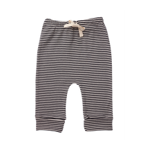 Nature Baby Cotton Drawstring Pants NAVY STRIPE