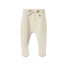 Nature Baby Footed Knit Pants - Oatmeal Marl