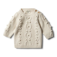Wilson & Frenchy Oatmeal Knitted Jumper With Baubles