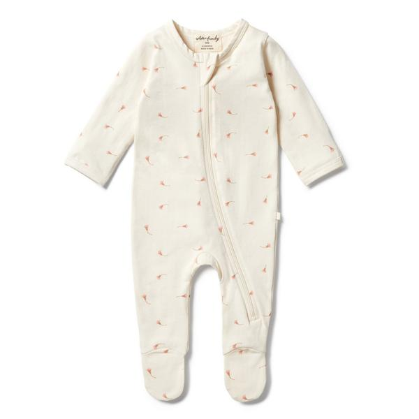 Wilson & Frenchy Zipsuit with Feet - Little Blossom