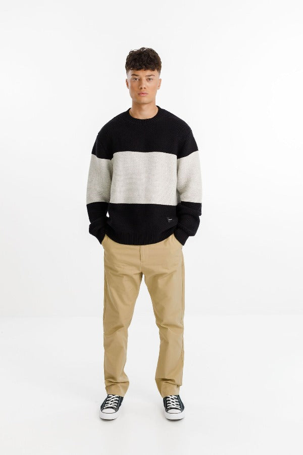 Thing Thing ATTIC Sweater - BLACK & WHITE Knit