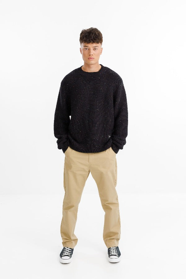 Thing Thing ATTIC Sweater - BLACK SPECKLED Knit