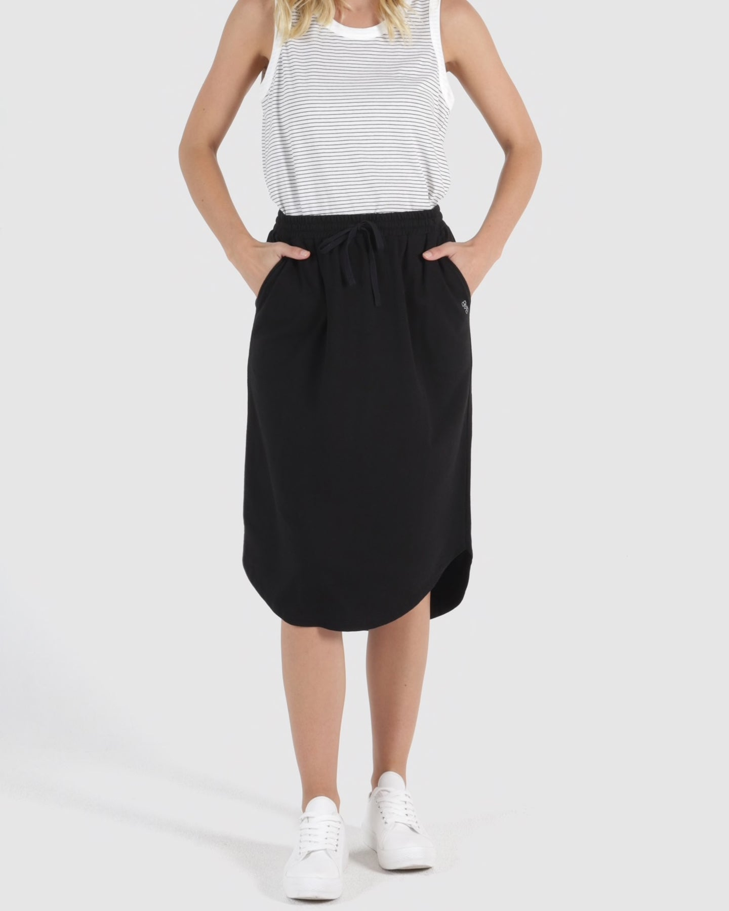 betty basics ellen skirt black