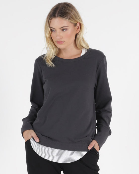 dolly dolly sweat gunmetal sweatshirt Betty basics