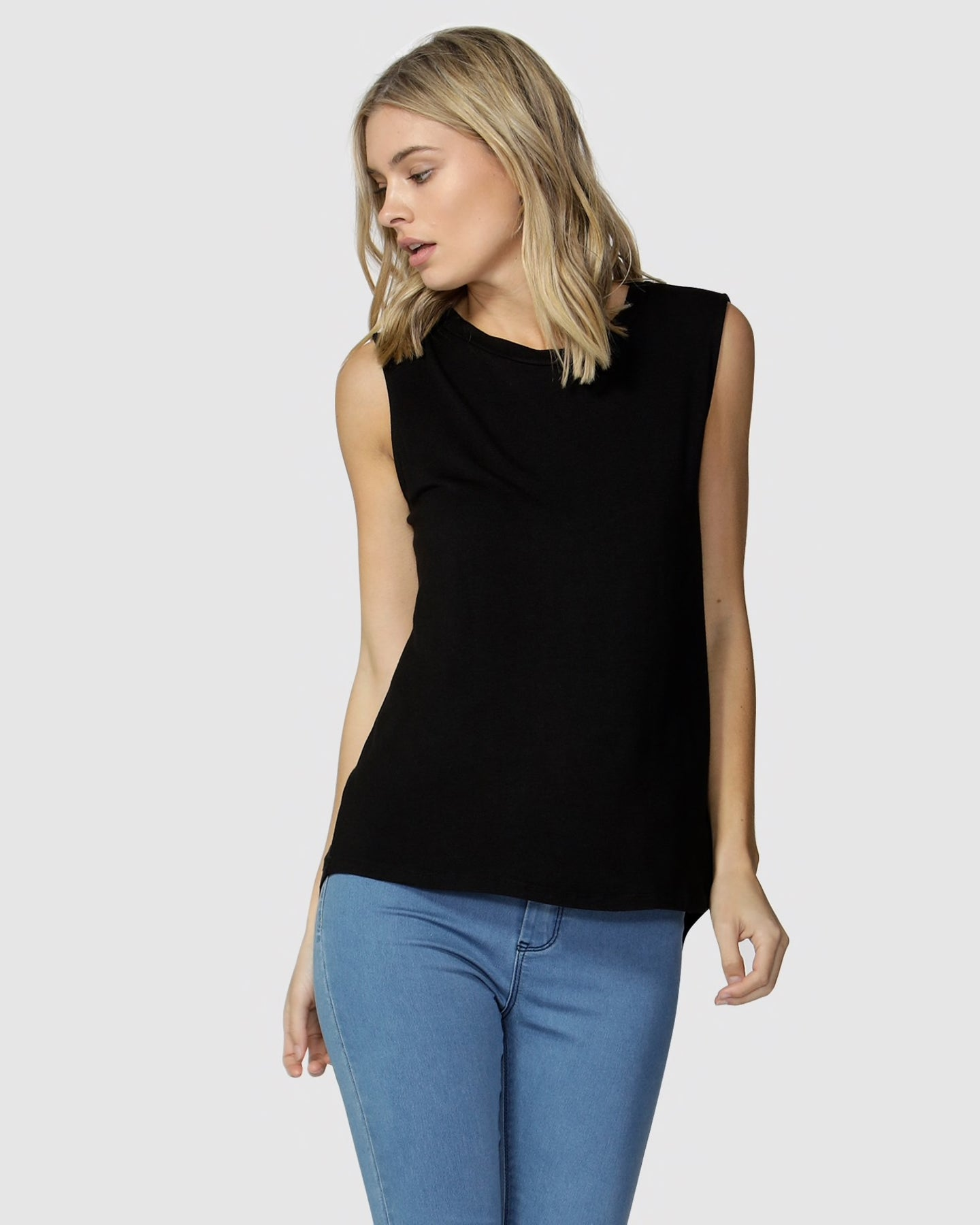 Betty Basics Capri Tank Black
