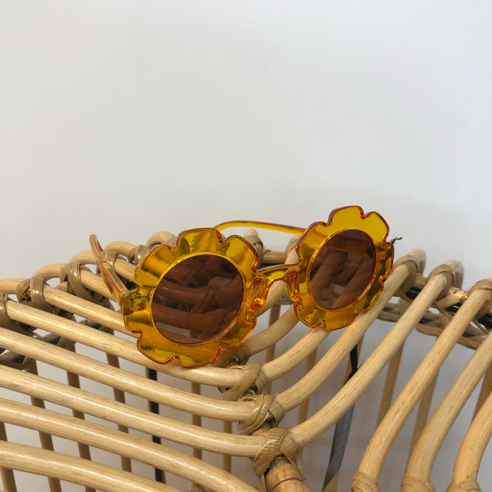 Kids Flower Sunglasses - Yellow