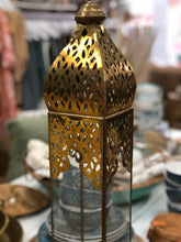 Brass Large Sized Tall Patterned Candle Holder
