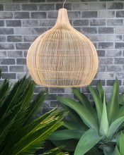 Rattan Bell Shaped Light Shade - Large