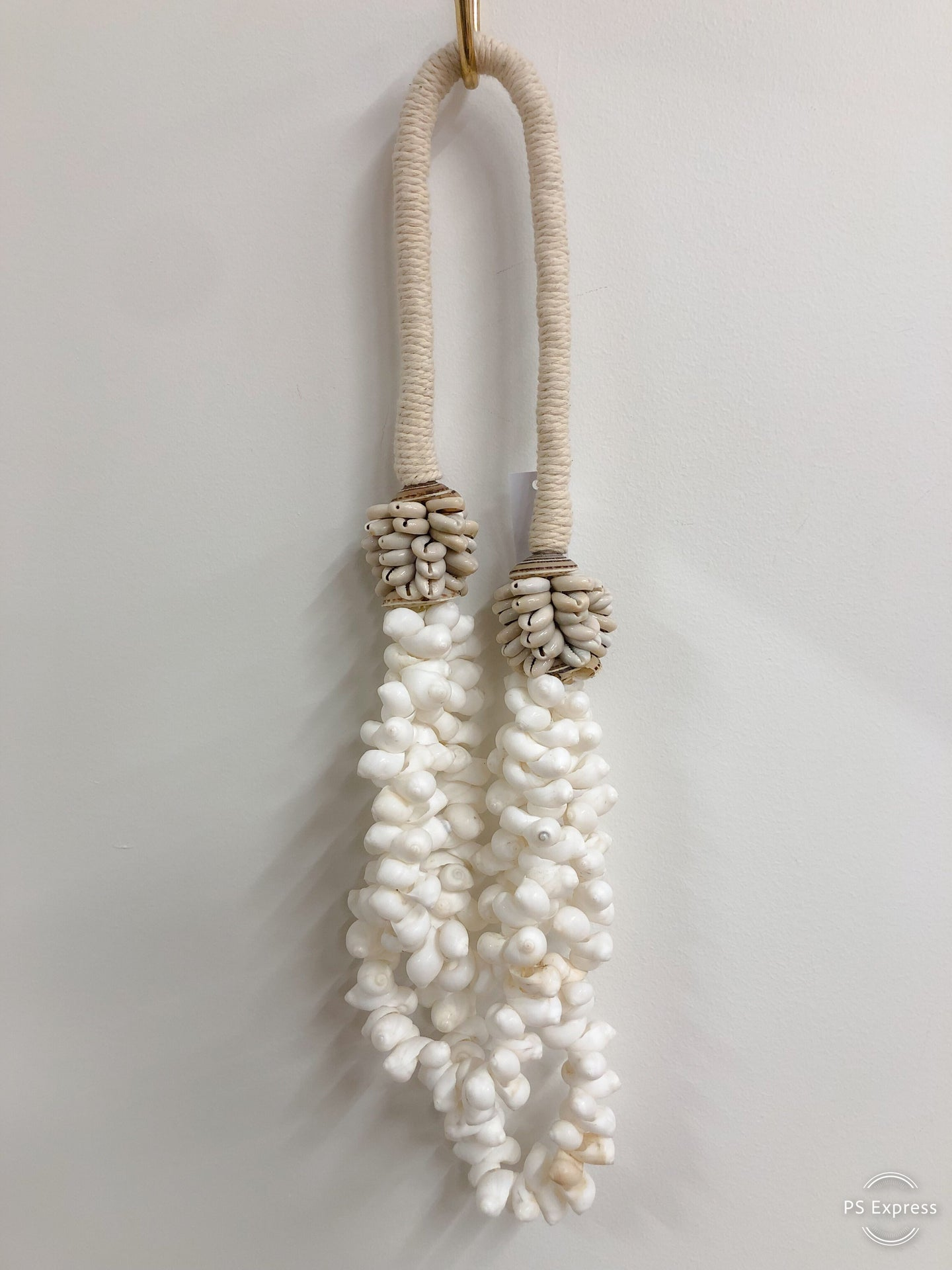 Large Shell Necklace On Rope White Shells