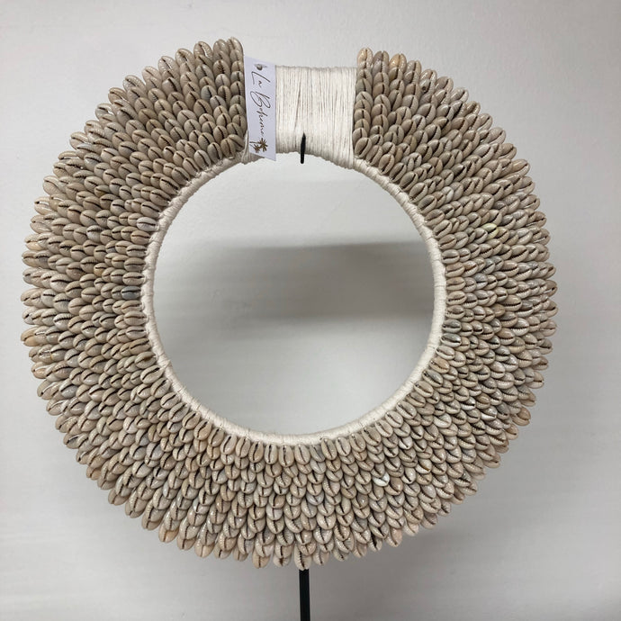 Medium Circle Necklace Wall Art - Cowrie Shell