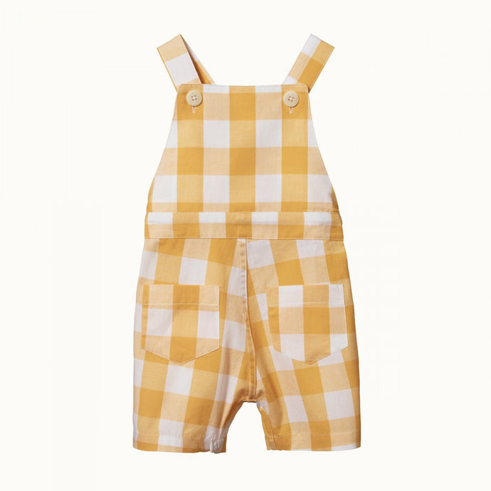 Nature Baby Alex Overalls - HONEY CHECK