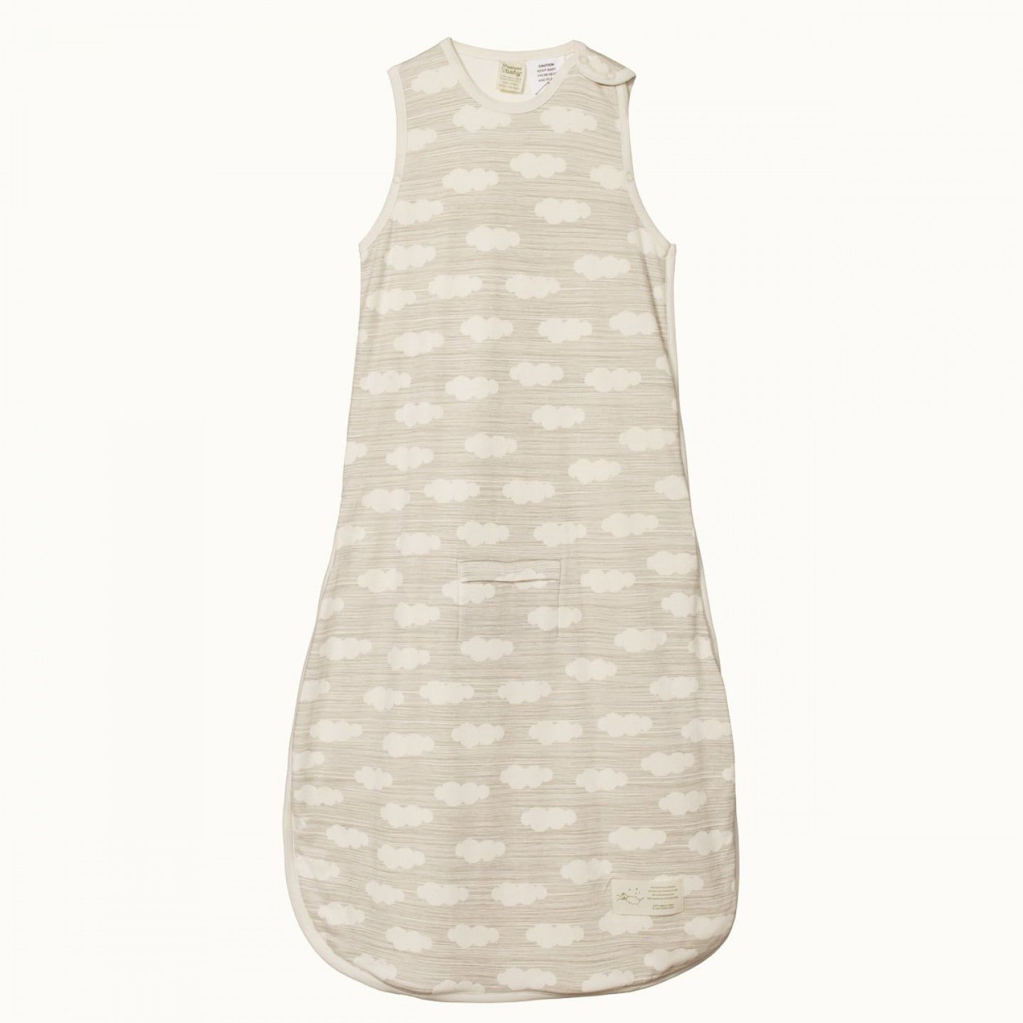 Nature Baby Cotton & Merino Sleeping Bag CLOUD