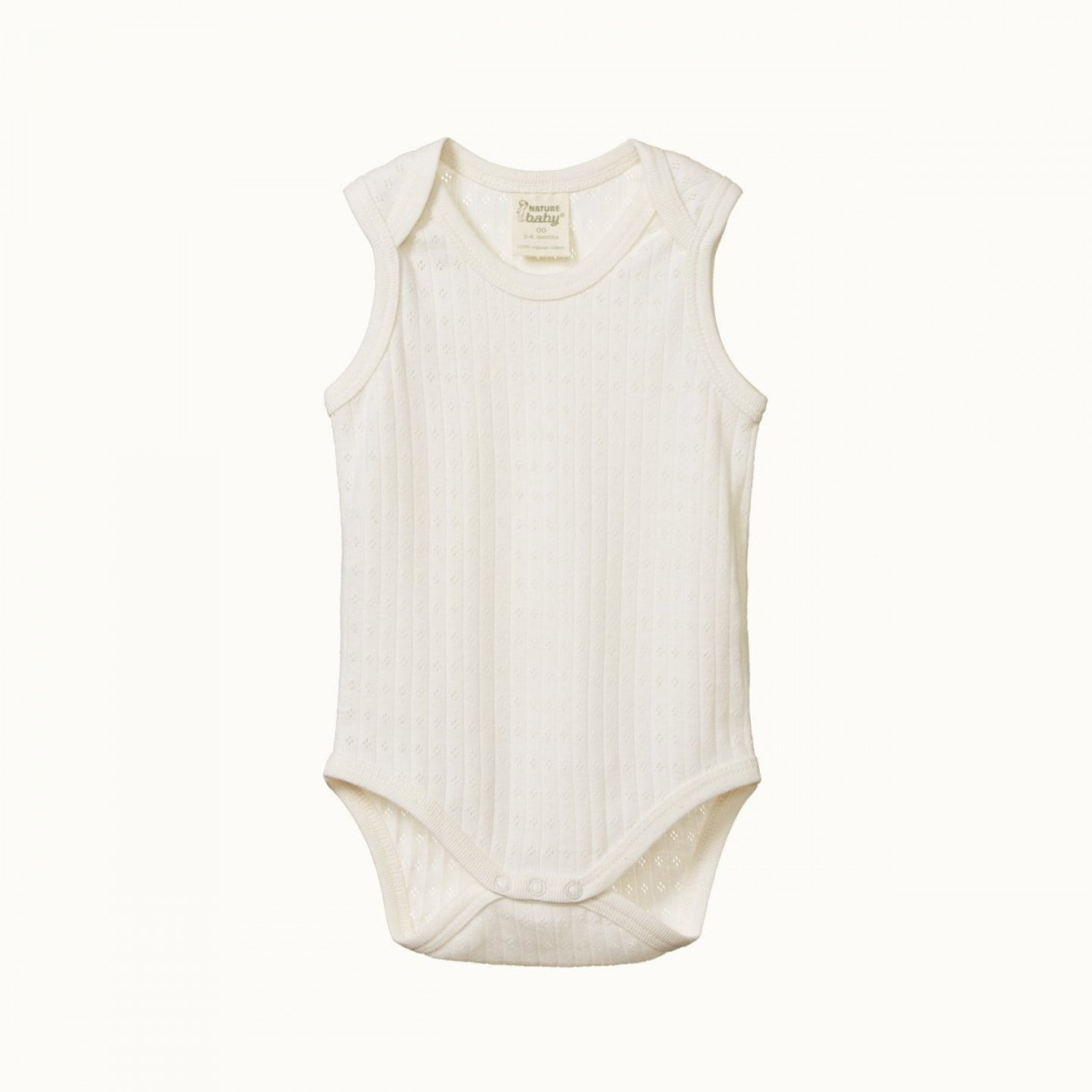 Nature Baby Pointelle Singlet Bodysuit NATURAL
