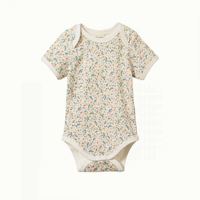 Nature Baby Short Sleeve Bodysuit - June's Garden