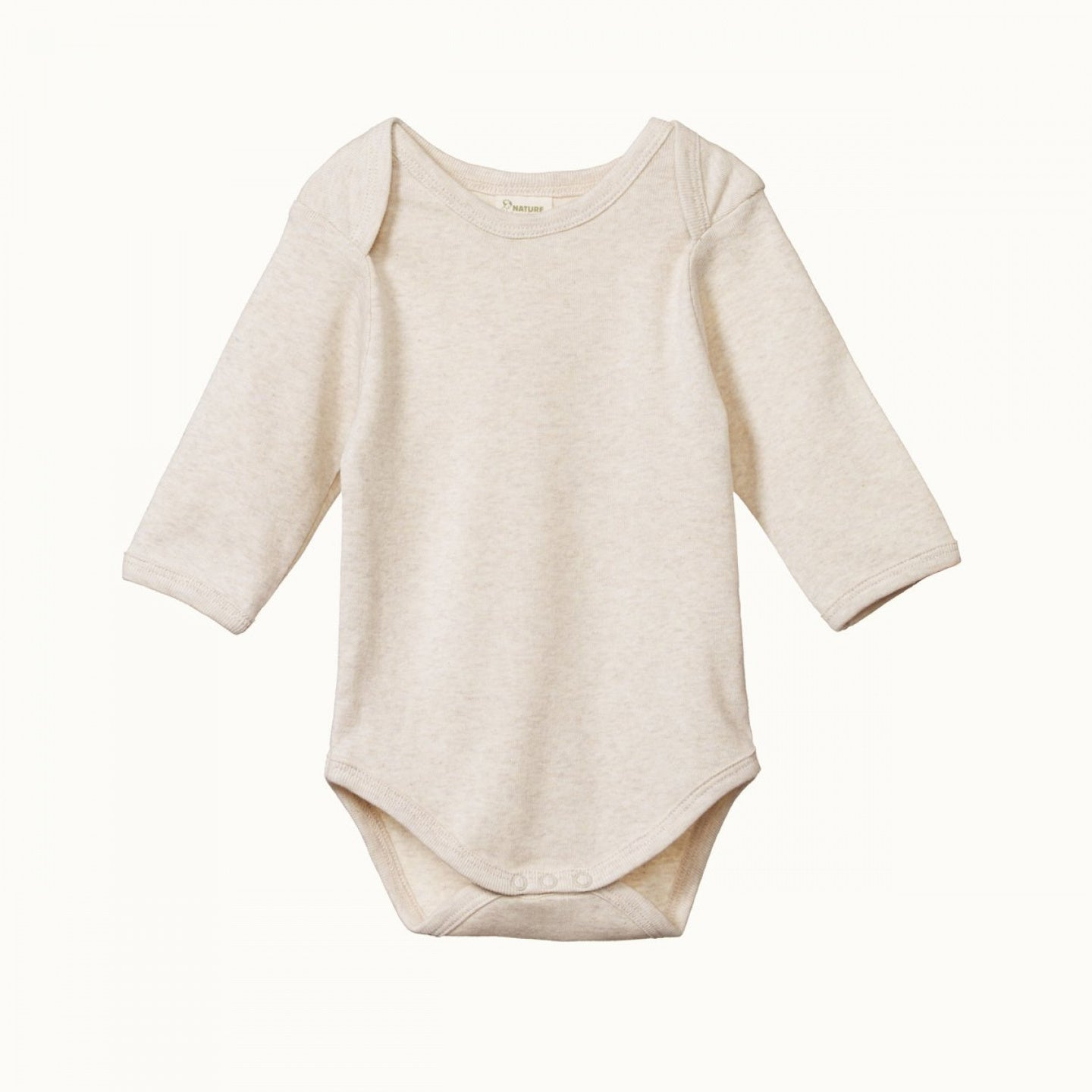 Nature Baby Cotton Long Sleeve Bodysuit OATMEAL MARLE