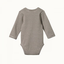 Nature Baby Cotton Long Sleeve Bodysuit - Truffle Marl