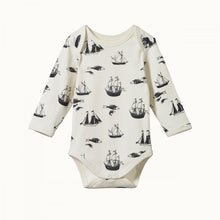 Nature Baby Cotton Long Sleeve Bodysuit - Voyage