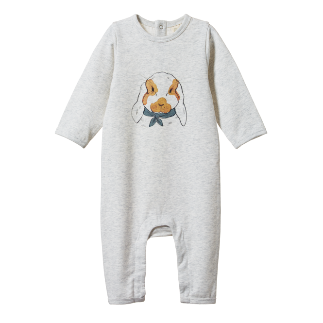 Nature Baby L/S Quincy Romper - Barnaby Bunny