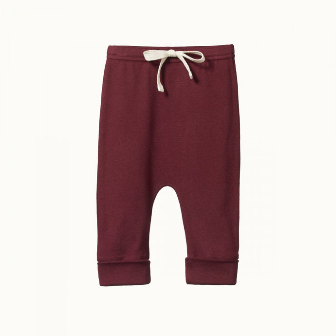 Nature Baby Cotton Drawstring Pants - Elderberry