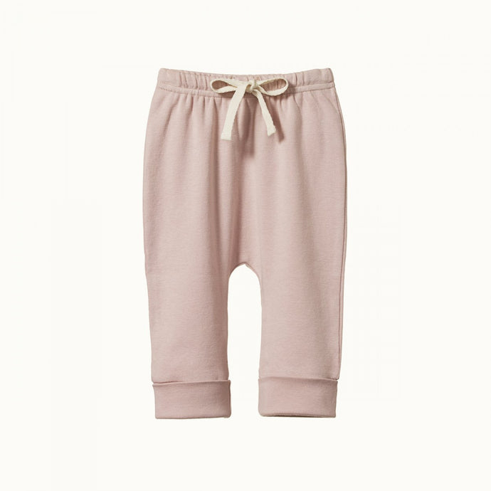 Nature Baby Cotton Drawstring Pants - Rose Bud
