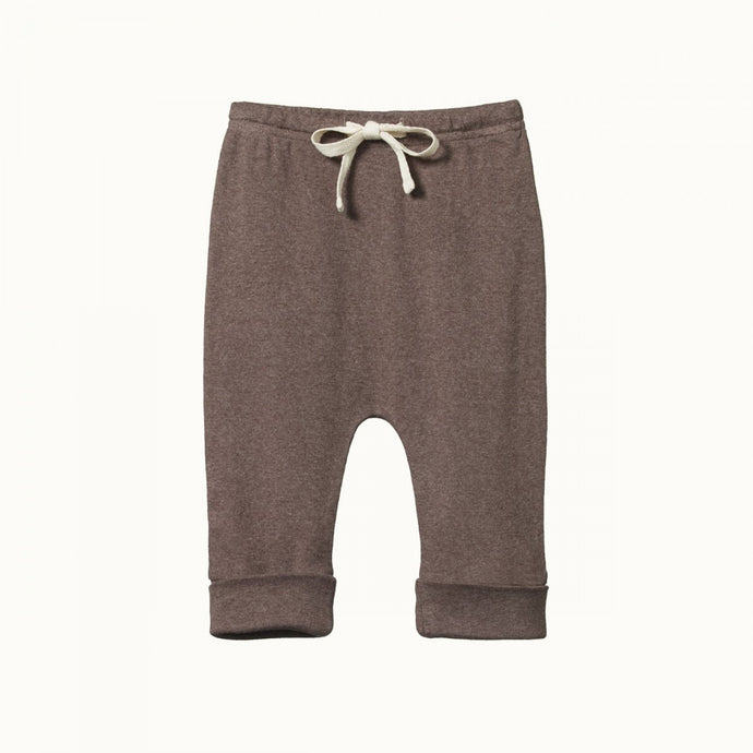 Nature Baby Cotton Drawstring Pants - Truffle Marl