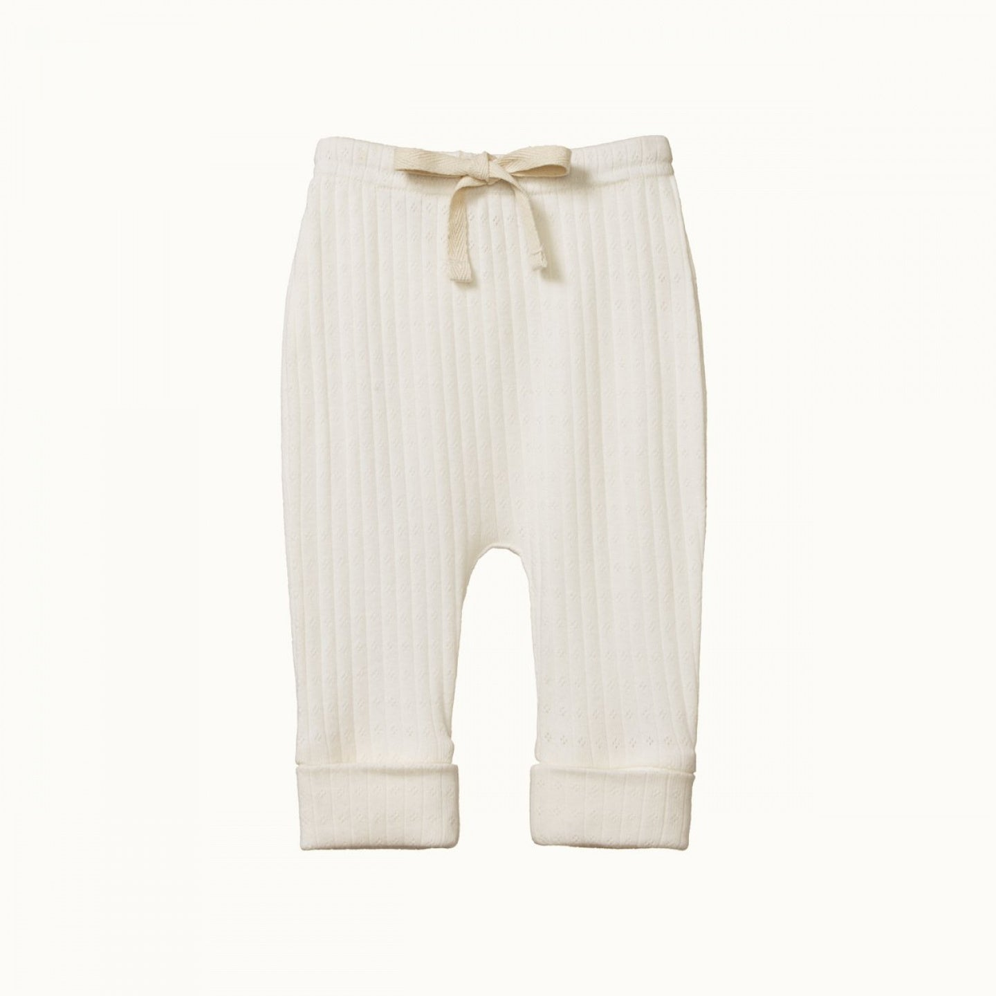 Nature Baby Pointelle Drawstring Pants NATURAL