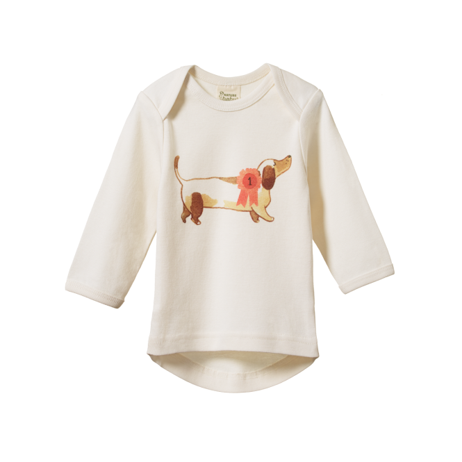 Nature Baby Simple Tee - Top Dog Print