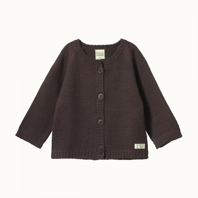 Nature Baby Merino Knit Cardigan - Chocolate