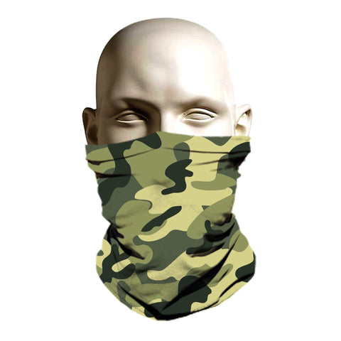 Army camo face shield - ski mask style printed front and back