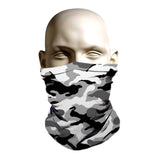 Black and grey camo printed ski mask for adults