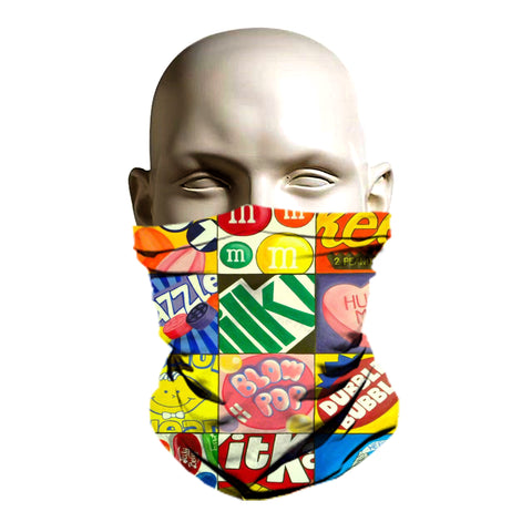 Classic candy printed snowboarding face shield