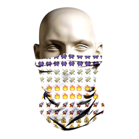Super cool emoji winter face shield