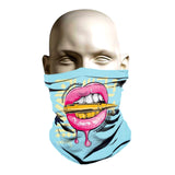 Cool ski mask design with sexy lips and bullet