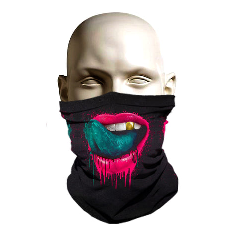 Sexy Wet lips ski mask for winter protection