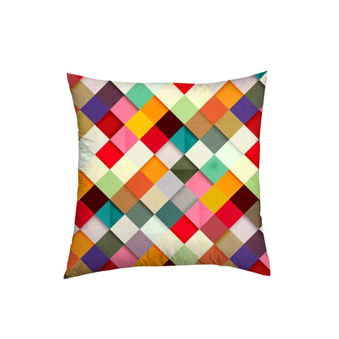 Cross hatch design printed throw pillow